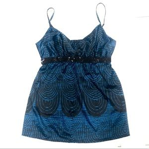 Express Silky Tank Blouse- Blue -Size small
